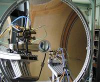 Metrology at the focus of a solar furnace